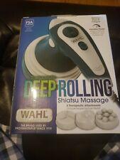 New WAHL Deep Rolling Shiatsu Handheld Massager, Full Body Massage