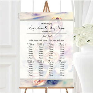 Music Treble Clef Personalised Wedding Seating Table Plan