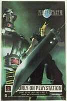 Final Fantasy VII Print Ad Game Poster Art PROMO Official PlayStation PS1 FF7 7