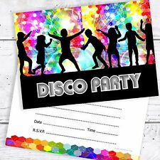 Disco Party Invitations - Kids Birthday Invites - A6 Postcard Style (Pack 10)