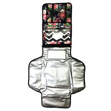 Portable Diaper Changing Pad - Waterproof Baby Changing Pad with Built-in Head C