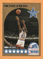 1990 NBA Hoops All-Weekland Miami Feb 9-11-1990  Michael Jordan #5.