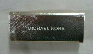"NEW MICHAEL KORS WOMEN'S LipStick Case/Holder Gold 3.5"" w/Mirror"