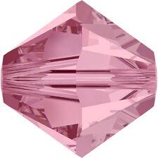 Swarovski Crystal Glass Beads 5301 4mm Bicone Wholsale - Light Rose - 500pcs