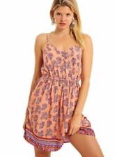 Rayon V-Neck Floral Dresses for Women