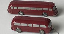1612/3 - Wiking Mercedes Bus 0 6600 weinrot mit Anhänger Saure 227/3A + 228/1A