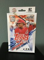New 2021 Topps Baseball Series 1 Hanger Box 67 Cards Factory Sealed Blaster Box
