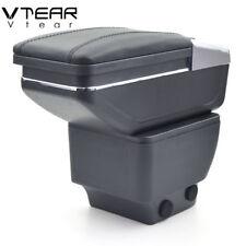 Vtear For Mazda 2 hatchback armrest box Store content box cup holder 2008-2013