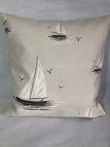 "16""/18"" Cushion Covers With Yachts in 100% Cotton Fabric"
