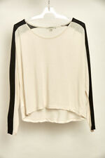 Country Road Long Sleeve Top Womens Black & Cream XS