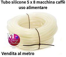 Tubo silicone 5x8 70Sh trasparente alimentare x macchina caffè al mt. UNIVERSALE