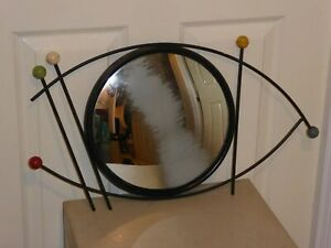 VINTAGE AUTHENTIC 1950s MID CENTURY ATOMIC CIRCULAR ROUND WALL MIRROR