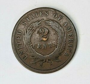1864 Two Cent Piece Circ - 180310V
