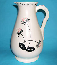 "Falcon Ware Pottery - Attractive Large ""Retro Flower Design"" Pitcher - M.Marks."
