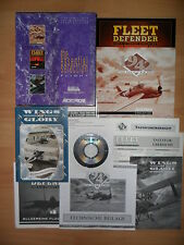 (PC) - 1942-The Pacific Air fue + Fleet defender + Wings of Glory