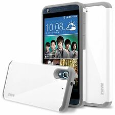 HTC Desire 626 Case, Hard Impact Dual Layer Shockproof Bumper Case - White