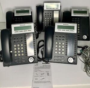 Panasonic KX-DT333-B Button LCD Speakerphone Charcoal Gray Lot Of 5 Sanitized