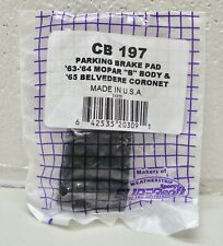 CB 197 SuperSoft Parking Brake Pedal Pad made in USA fits MOPAR B body & more