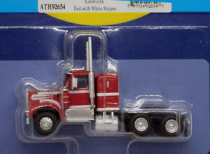 Athearn HO KW Kenworth Owner-Operator Truck Tractor Red/White ATH92654 NEW