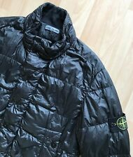 STONE ISLAND BLACK GARMENT DYED DOWN BOMBER JACKET L osti weft casuals italy