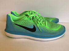 Nike Flex 2017 Rn 904252 300 Rage Green Blue Big Kids Size 5Y