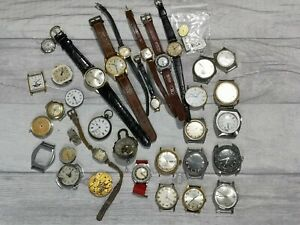 Job lot of vintage gents watches spares or repair