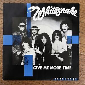Whitesnake 'Give Me More Time' Single 1984