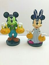 Disney Mickey Mouse Minnie Mouse Halloween Statue SET  * NEW *