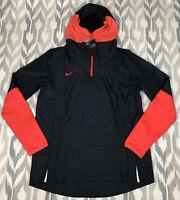 Nike Team Football Players Media Pocket 1/4 Zip Hooded Jacket Size M CI4477-011