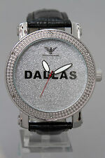 Dallas Genuine Diamond watch 14KT White Gold color Men/women/boys/girls