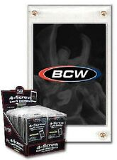 (50 Count Lot) BCW 4-Screw Screw-Down Recessed Trading Card Holder Regular 20pt