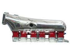 2JZGTE CNC billet intake manifold JZ A80 2JZ 2J GTE SUPRA 90mm flange + fuelrail