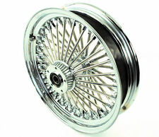 16 X 3.5 52 Chrome Fat Mammoth Spoke Rear Wheel Rim Harley Softail Slim ABS