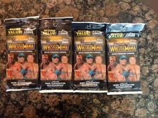 2015 TOPPS WWE ROAD TO WRESTLEMANIA VALUE PACKS ( 4 JUMBO 21 count PACK LOT)NEW