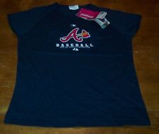 WOMEN'S TEEN ATLANTA BRAVES MLB BASEBALL T-shirt MEDIUM NEW w/ TAG