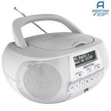 DAB Radio Boombox CD Player Clock USB Portable Digital AZATOM Zenith WHITE