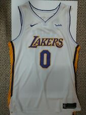 "L.A. LAKERS KYLE KUZMA WISH JERSEY # 0 WHITE MEN'S SZ. 54 + 4""L MINT NEW W/TAG"