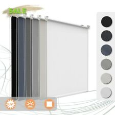 Verdunklungsrollo Klemmfix ohne Bohren Seitenzugrollo für Fenster Verdunkelung