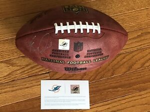 NFL MIAMI DOLPHINS EMMANUEL OGBAH TEAM CERTIFIED SIGNED FOOTBALL USFL WFL WFL