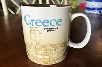 Starbucks 2015 Greece Global Icon Series 16oz Coffee Mug EUC Rare Collector