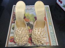 Vintage 1950 Daniel Green High Heel Slippers w/Rosettes~Bridal Boudoir Beauties