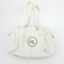 The Sak White Pebbled Leather Satchel Hand Bag Purse Med NWT