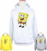 Funny SpongeBob Smile Print Sweatshirt Unisex Hoodies Graphic Hoody Hooded Tops