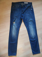 "EDC by ESPRIT Herrenjeans - Tapered fit - ""Crow"" - W31 / L34 - Used Look - blau"