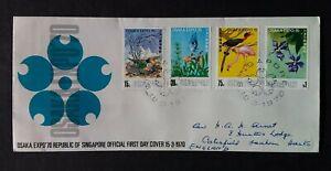 Singapore 1970 SG128/31 World Fair Osaka Addressed FDC Info Card Enclosed