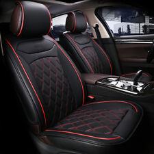 Alta Calidad 1+1 Polipiel Negra Fundas Asiento Frontal Cojín para Fiat Volvo