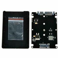 Black B + M key Socket 2 M.2 NGFF (SATA) SSD to 2.5 SATA Card Case Adapter T8M4