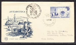"Australia ""WCS"" AAT 1958 Antarctic 2s. Davis Base with Cachet Cover"