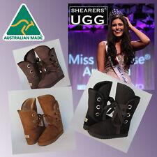 CLEARANCE - Australian HAND-MADE SHEARERS UGG Lace Up Roxy Short Sheepskin Boots