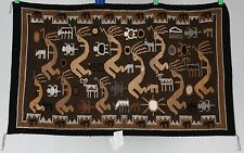 Navajo rug, blanket Native American textile weaving pictorial by Esther Etcitty